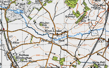 Old map of Ash Spinney in 1946