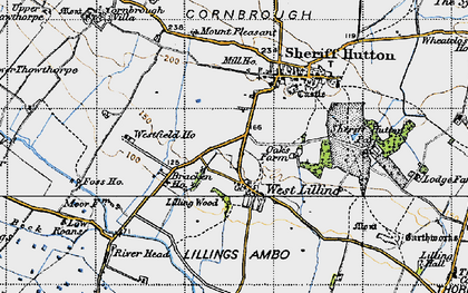 Old map of Lilling Wood in 1947