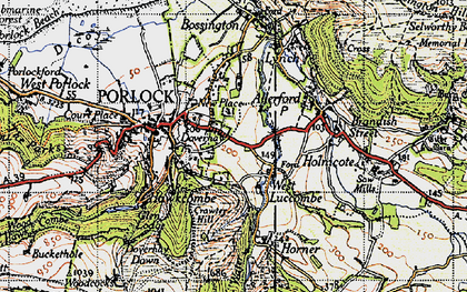 Old map of West Luccombe in 1946