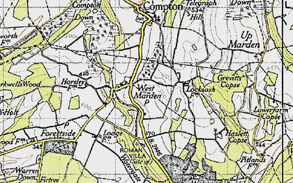 Old map of Watergate Hanger in 1945