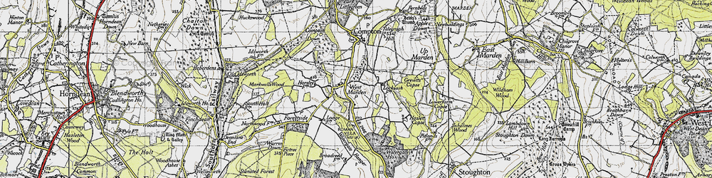 Old map of West Marden in 1945