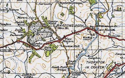 Old map of Bale New Plantn in 1947