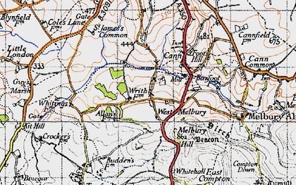 Old map of Whitehall in 1945