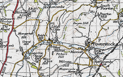 Old map of Leigh Gate in 1945