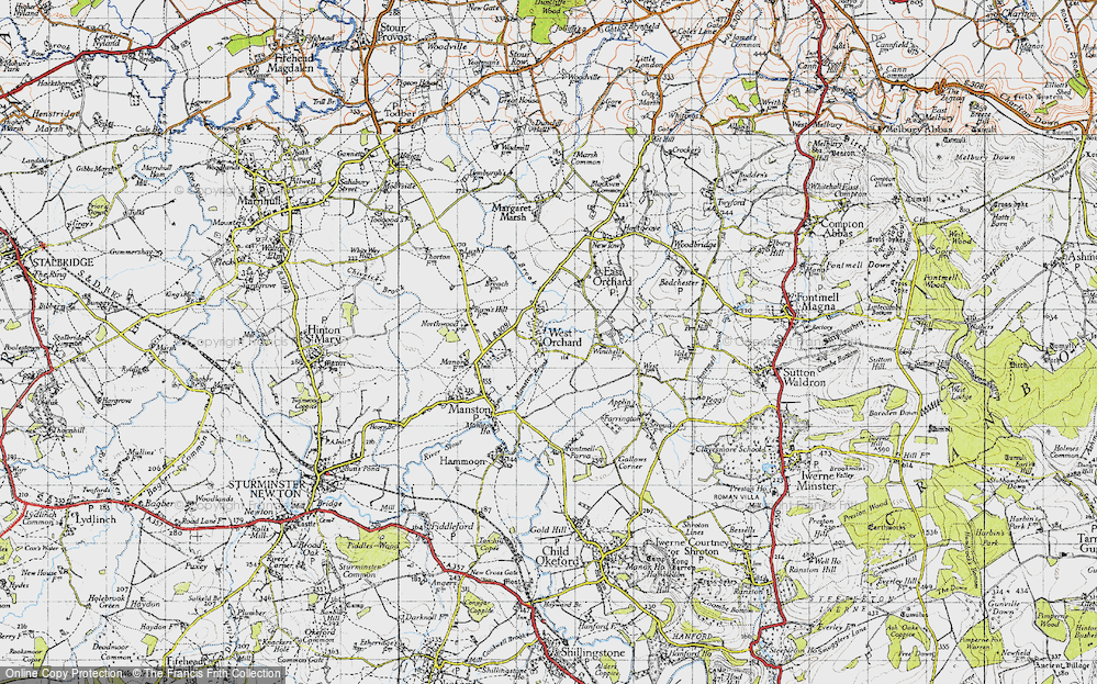 Old Map of West Orchard, 1945 in 1945