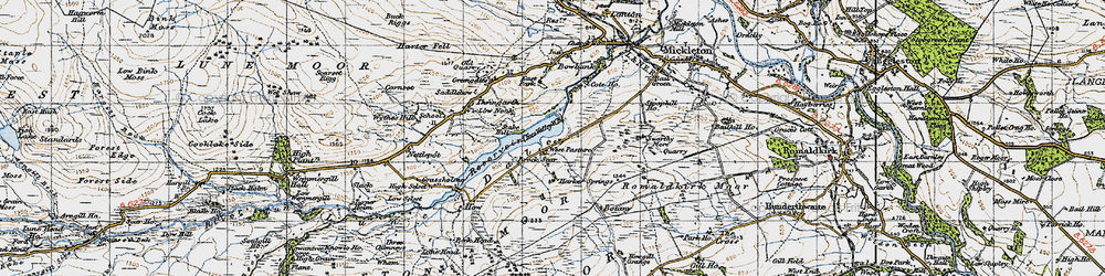 Old map of West Pasture in 1947
