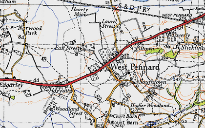 Old map of West Pennard in 1946