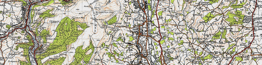Old map of West Pontnewydd in 1947