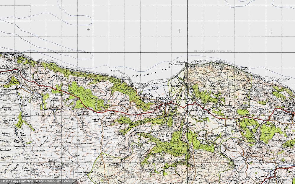 Old Map of West Porlock, 1946 in 1946