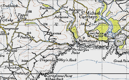 Old map of West Portholland in 1946