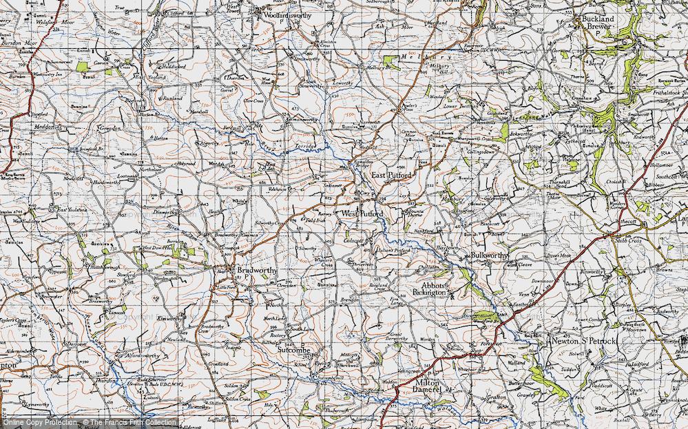 Old Map of West Putford, 1946 in 1946