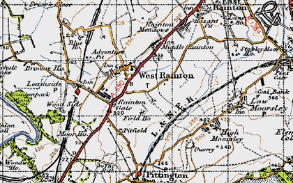 Old map of West Rainton in 1947