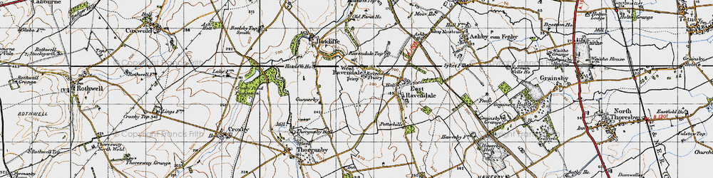 Old map of West Ravendale in 1946