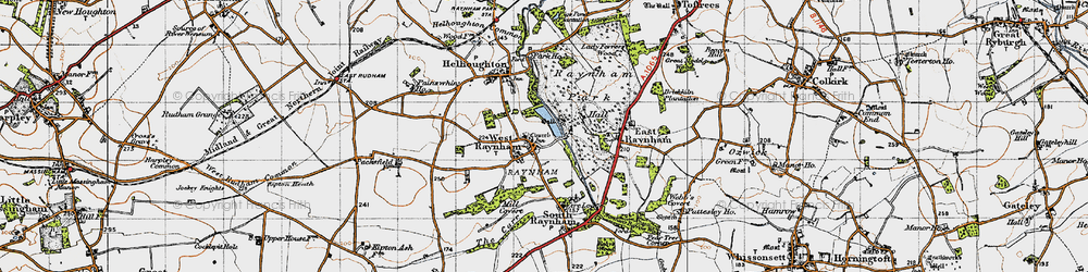 Old map of West Raynham in 1946