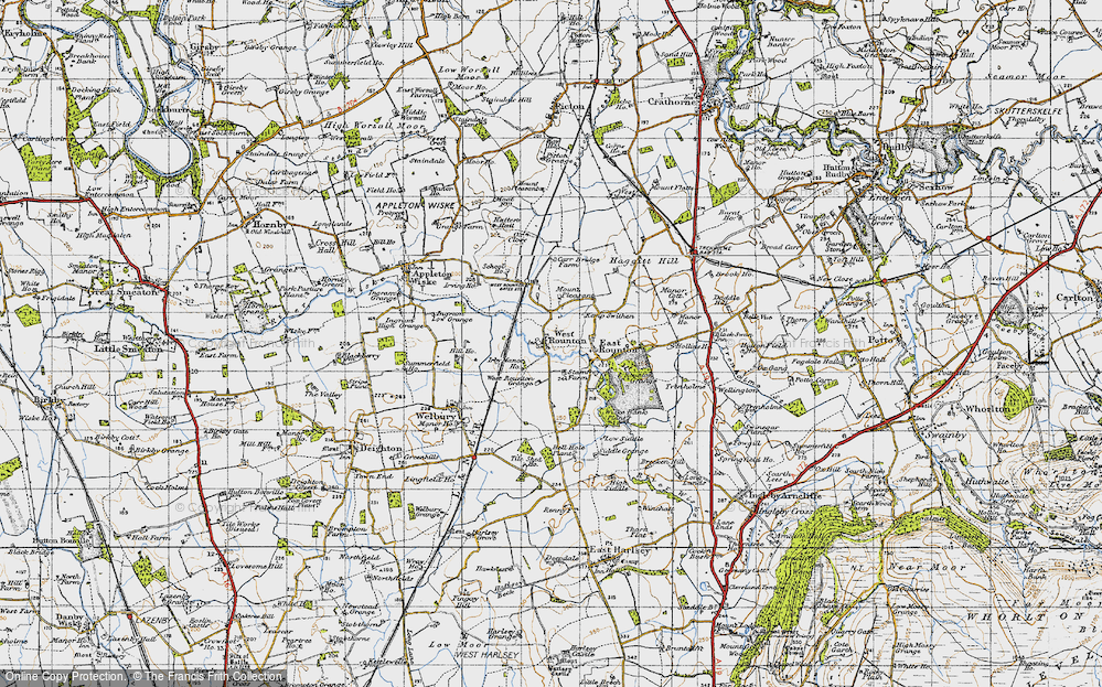 Old Map of West Rounton, 1947 in 1947