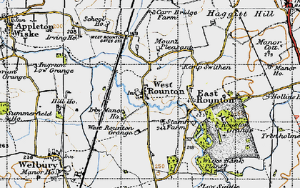 Old map of West Rounton Grange in 1947