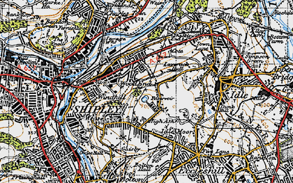 Old map of West Royd in 1947