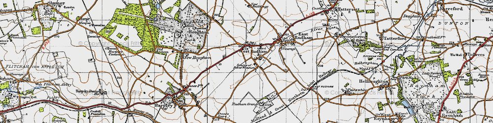 Old map of West Rudham in 1946