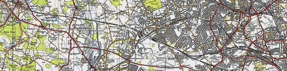 Old map of West Ruislip in 1945