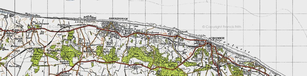 Old map of West Runton in 1945