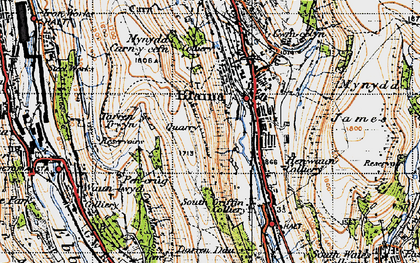Old map of West Side in 1947