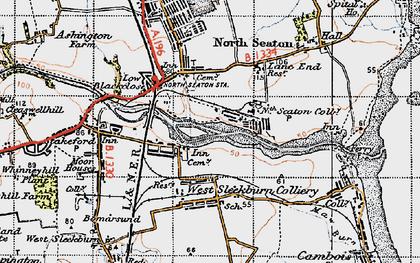 Old map of West Sleekburn in 1947