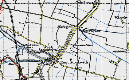 Old map of West Stockwith in 1947