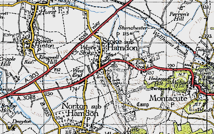 Old map of West Stoke in 1945