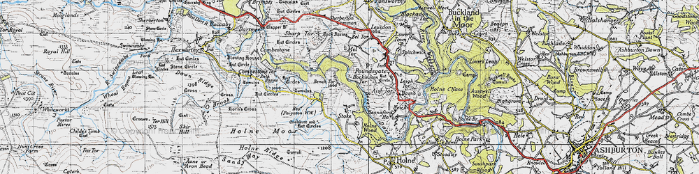 Old map of West Stoke in 1946