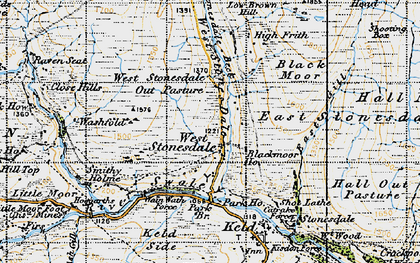 Old map of West Stones Dale in 1947