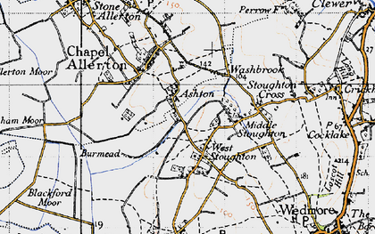 Old map of West Stoughton in 1946