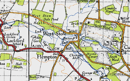Old map of Ash Carr in 1946