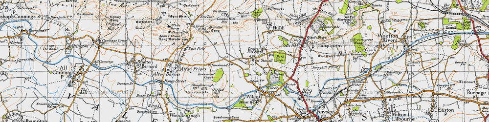 Old map of West Stowell in 1940
