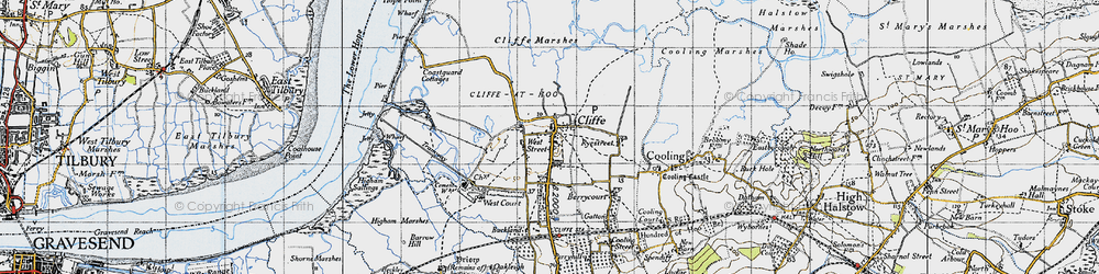 Old map of West Street in 1946