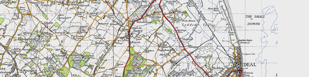Old map of West Street in 1947