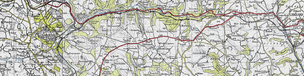 Old map of West Taphouse in 1946
