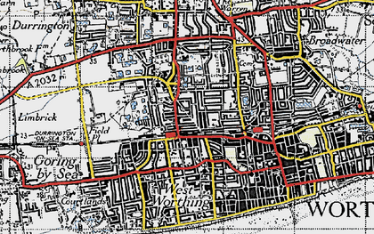 Old map of West Tarring in 1940