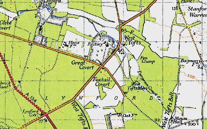 Old map of West Tofts Heath in 1946