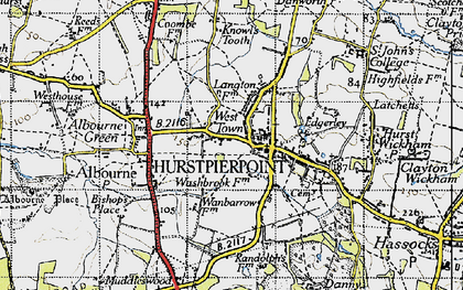 Old map of West Town in 1940