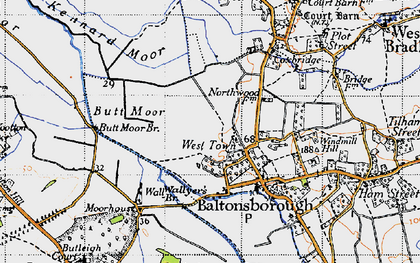 Old map of West Town in 1946