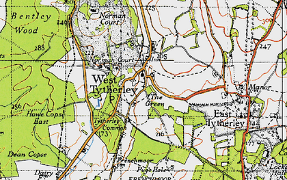 Old map of West Tytherley in 1940