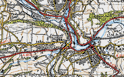 Old map of West Vale in 1947