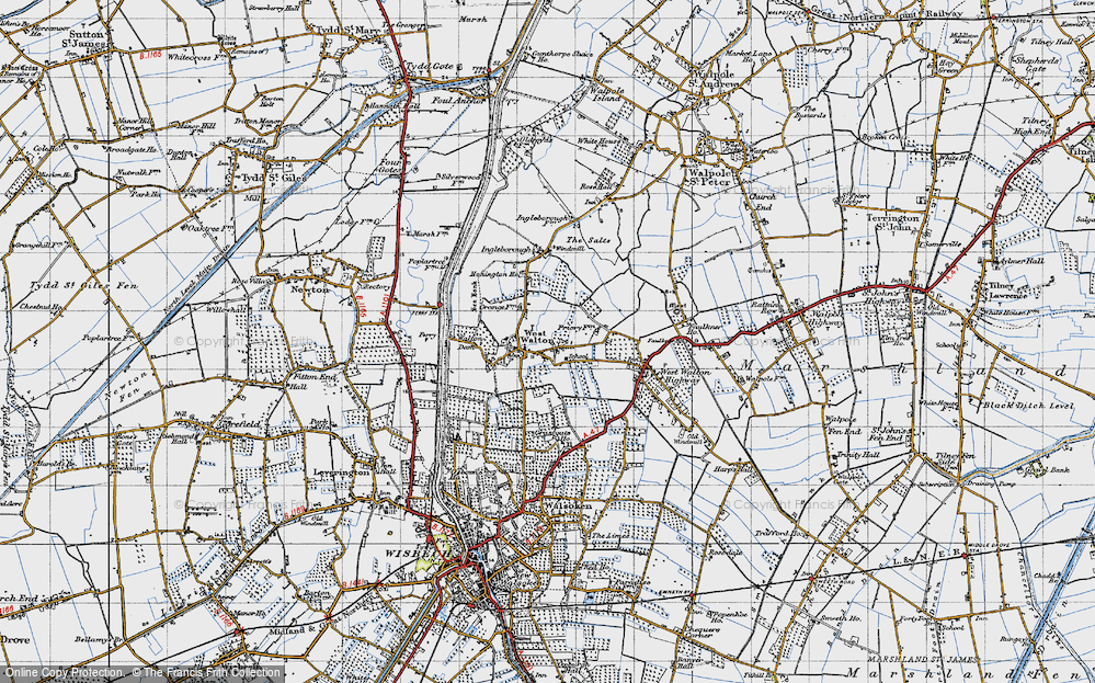 Old Map of West Walton, 1946 in 1946