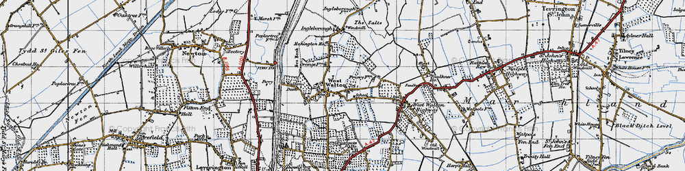 Old map of West Walton in 1946
