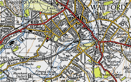 Old map of West Watford in 1946
