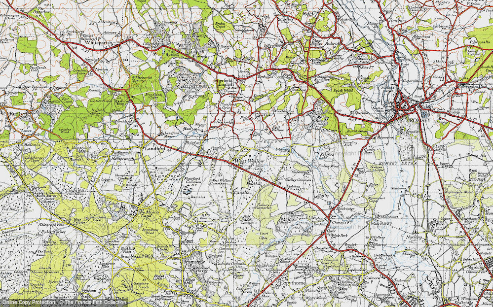 Old Map of West Wellow, 1940 in 1940