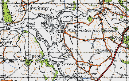 Old map of West Williamston in 1946
