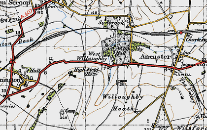 Old map of Willoughby Heath in 1946
