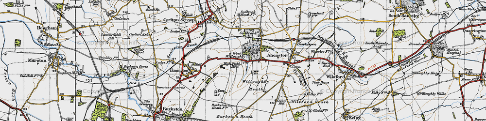 Old map of West Willoughby in 1946