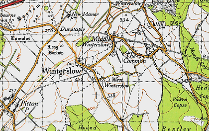 Old map of West Winterslow in 1940